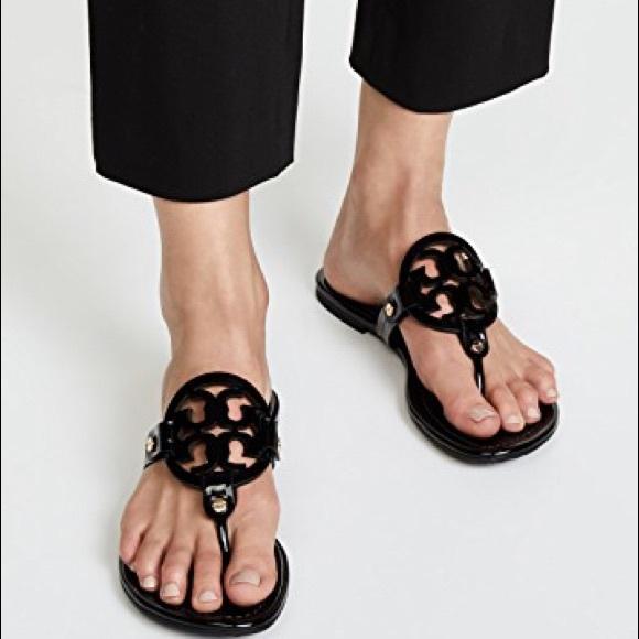 afc4a7282cd Tory Burch Miller black patent leather Sandals 8.5.  M 5b40c75a409c15f887c0b24a